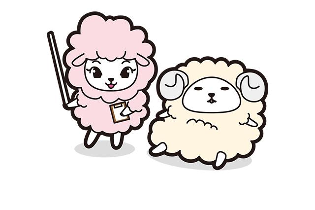 コーポレートキャラクター兼広報担当(左:ペコラちゃん 右:平好楽くん)